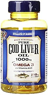 Holland & Barrett Cod Liver Oil with Evening Primrose Softgel Capsules, 572mg, 120 count
