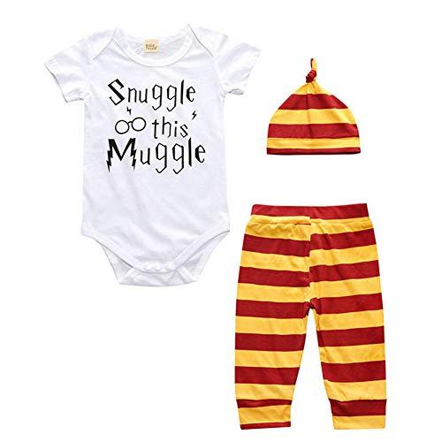 ETbotu Kleidung für die frühe Kindheit Baby Infant Romper Outfits Jumpsuit Stirnband Hosen Hut Kleinkind Kostüm für Jungen und Mädchen 90cm 2#