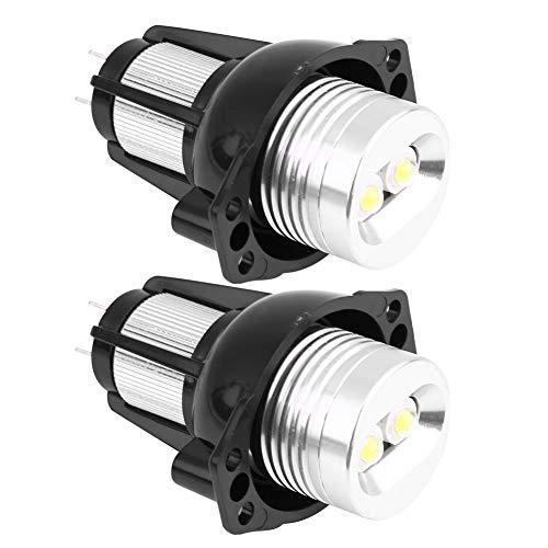 Bombillas de conducción DRL, luz LED de ojos de ángel de 12 W, 2 uds, luz de marcador de anillo Halo para lámparas de automóvil BMW E90 E91 2005-2008
