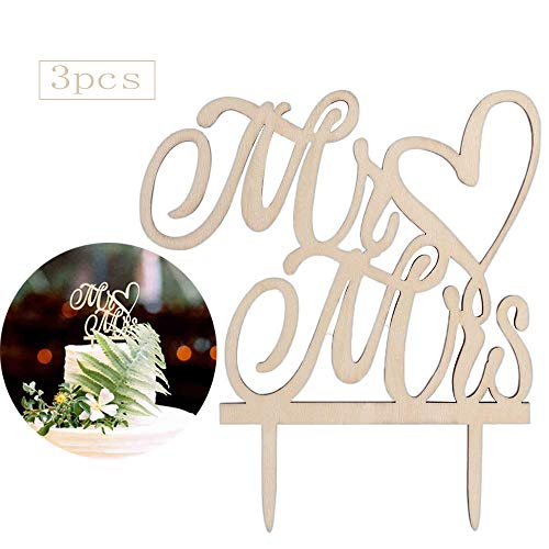inherited 3 Stück Mr & Mrs Kuchendeckel, Hochzeit Kuchen Topper, Cake Topper Kuchen Dekoration für Party Kuchen Picks Lebensmittel Dekoration Lieferungen für Hochzeitstorte