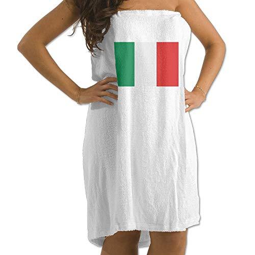 TEIJWETIEJT - Toalla de baño para Hombre, diseño de Bandera Italiana, Color Blanco