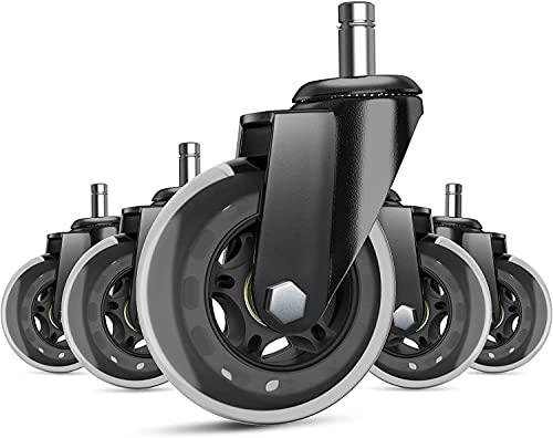 WASJOYE Heavy Duty Office Chair Wheels
