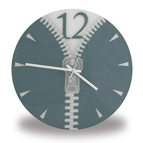 Eurowebb Horloge avec motif Zip grise fermeture éclair