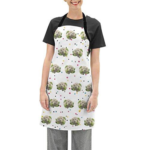 Darlene Ackerman(n) Neuartige Blumenkohl hoch verstellbare Schürze Küche Kochen Soft Chef Lätzchen Schürze für Frauen Basteln BBQ Zeichnung im Freien