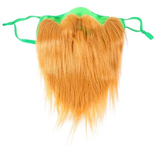 VALICLUD Barba Irlands Da de San Patricio Barba Duenchaun Barba Turner Barba Falsa Disfraz Accesorio Marrn