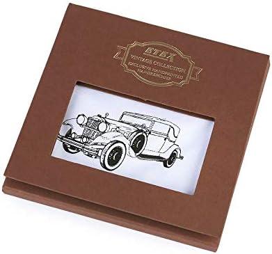 1pc White Car Men's Handkerchief in Gift Box - Bike, Car, Motorbike, Mens Handkerchiefs, Fashion Accessories