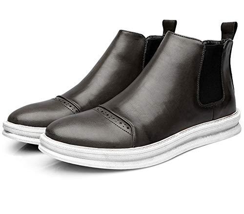 LYLIFE Anti-Slip Unisex Elastic Waterproof Slip On Short Causal Boots Chelsea Booties(Grey-38/5.5 D(M) US Men)