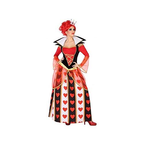 Atosa-54487 Disfraz Reina Corazones, Color Rojo, M-L (54487)