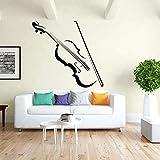 Música violín nota reproducir tono de película sonido piedra vinilo música habitación diseño pared pegatina