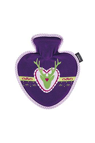 Fashy GmbH en forme de cœur Bouillotte avec housse de cerf, 0.7 litre