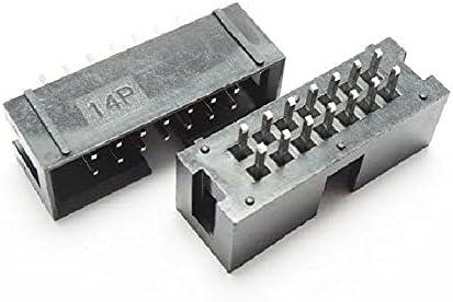 ZTSHBK 10pcs DC3-14P Straight JTAG for Ranking latest TOP6 Socket Flat Connector Rib