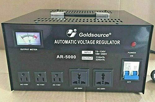 Regulador de corriente Estabilizador de tensión entrada y salida de corriente universal hasta 5000 Vatios apto para equipos Europeos y Americanos