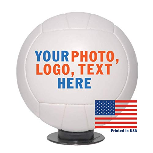 Personalized Custom Full Size Volleyball | Customized Volleyball with Name, Photo, or Text | Trophy or Gift for Coach, Son, Boyfriend, or Any Volleyball Fan (Volleyball Without Base)