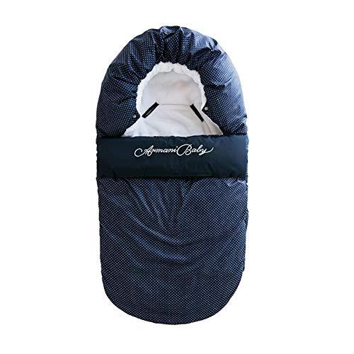 Saco de dormir para bebés Recién nacidos Sacos de dormir Manta Sobre Arco Bebé Exterior Niño Invierno Cálido Envoltura para cochecito Azul M