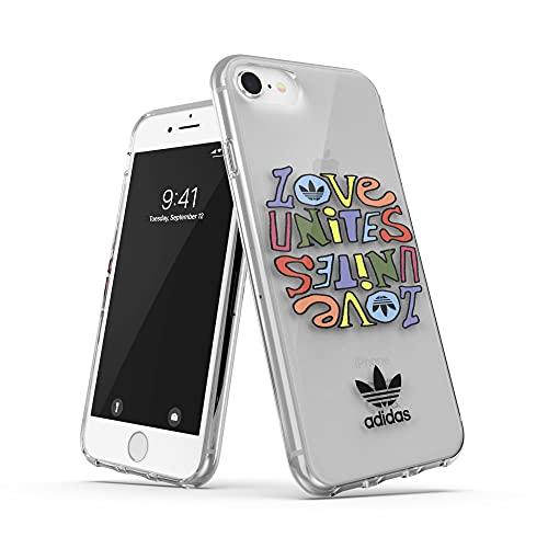 adidas Funda Teléfono Diseñada para iPhone SE 2020, 6, 6s, 7, 8, Fundas Probadas contra Caídas con Diseño Inspirado en el Orgullo, Bordes Elevados a Prueba De Golpes, Funda Protectora