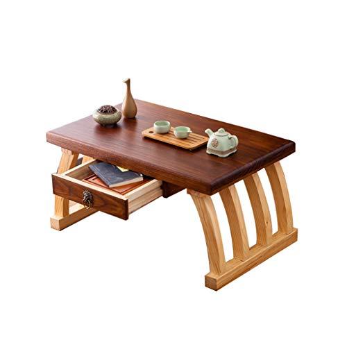 Tables Basse Lit Basse Tatami Basses Baie Vitrée avec Tiroir Petite À Thé Antique Chinoise Petit Bureau en Bois Massif Salon À Thé Simple Basses