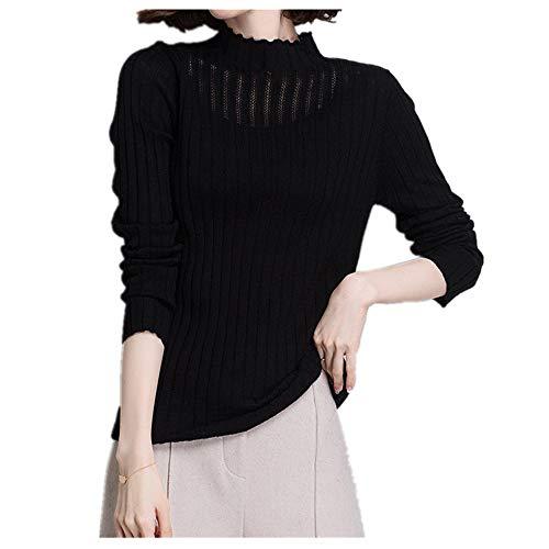 U/A punto punto Cardigan delgada mujer suéter de manga larga top Bottoming camisa