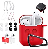 NANTING Silicone Coque pour AirPods, 12 en 1 AirPods Accessories,...