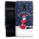 DeinDesign Nokia 6 2017 Coque Étui Housse Paris Saint-Germain Produit sous Licence Officielle Noel
