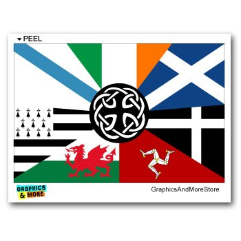 Graphics and More Celt Irish Ireland Pan-Celtic Nation Flags - Window Bumper Locker Sticker