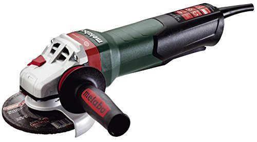 """Metabo WEPBA17-125 Quick 14.5 Amp 11,000 rpm Angle Grinder with Brake, Auto-balancer, Electronics and Non-locking Paddle Switch, 5"""" (WEPBA17125)"""