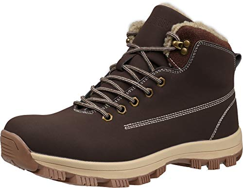 WHITIN Men's Winter Shoes Snow Boots Outdoor for Cold Weather Warm Work Insulated Fully Fur Lined...