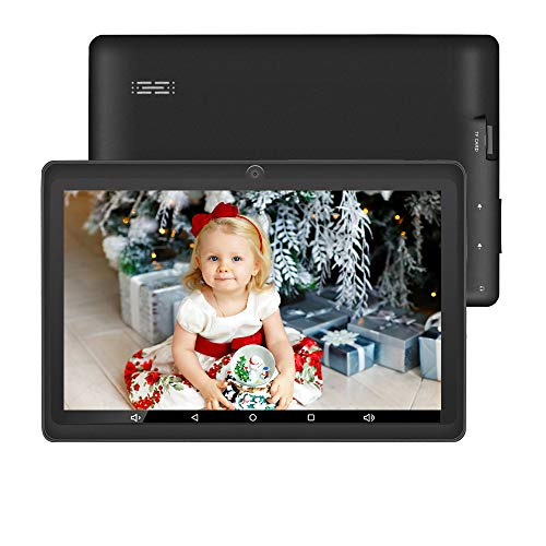 Tablet 7 inch Google Android 10.0 Kids Tablet Toddler WiFi Bluetooth Tablets 16GB /Expand 128GB Expand Quad Core Tablets PC Supporte 3D Game Google Play Store Netflix Skype Kids Learning Tablet Black