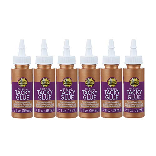 Aleene's Original 2 fl. oz. 6-Pack, America's Favorite Tacky Glue, 6 Pack, Ideal for Slime, Crafts and School Projects 12