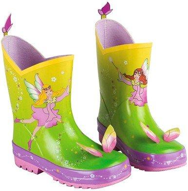 alles-meine.de GmbH 3-D Gummistiefel Naturkautschuk - Fee - Gr. 22 - für Kinder Regenstiefel / Matschstiefel Stiefel Elfe Prinzessin Blumenfee