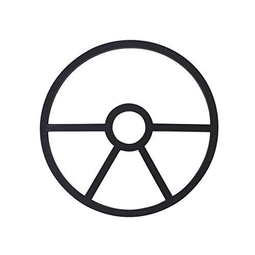 ZSZJ Dichtung Multiport-Ventil Spinnen-Dichtung Schwimmbad Sandfilter-Ersatzteile Pool-Umlenkventil 4 5 Ersatzteile (Color : Black 4holes 16.8)