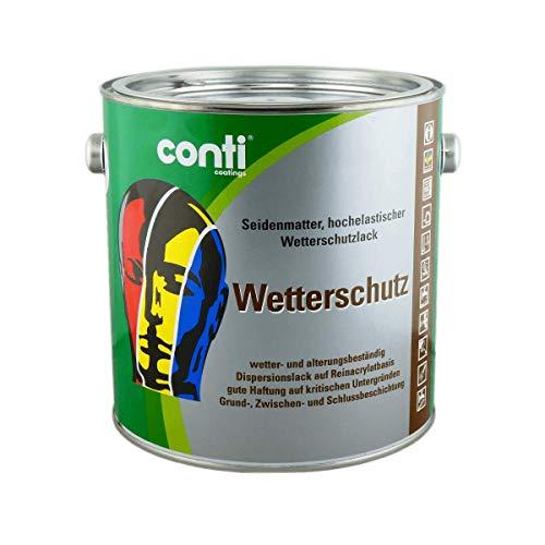 Conti Wetterschutzfarbe RAL 9010 Reinweiß 2,5 Liter