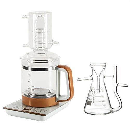 JACKBAGGIO Distillateur électrique en verre pour chauffage de la maison - 1,8 l - 2,5 l - Avec cuisinière à induction (1,8 l avec flacon séparateur)