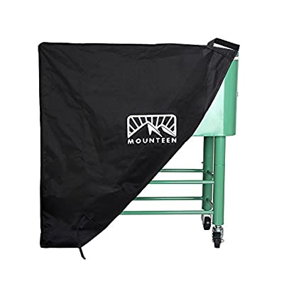 Mounteen Cooler Cover Universal Heavy Duty Waterproof UV Resistant Perfect for Patio Ice Chest Party Bar and Outdoors Rolling Cooler On Wheels, Suitable for 80QT Cooler Cart, Black