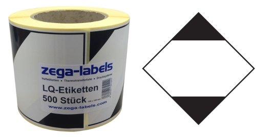 Gefahrgutetiketten auf Rolle - Limited Quantity - LQ Aufkleber - 500 Stück je Rolle - 100 x 100 mm - Haftpapier stark haftend