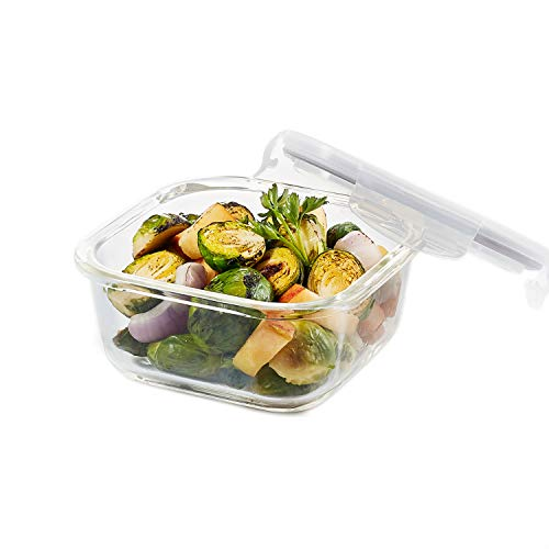 Lock & Lock Ovenglass Square Container - Clear, 500 ml