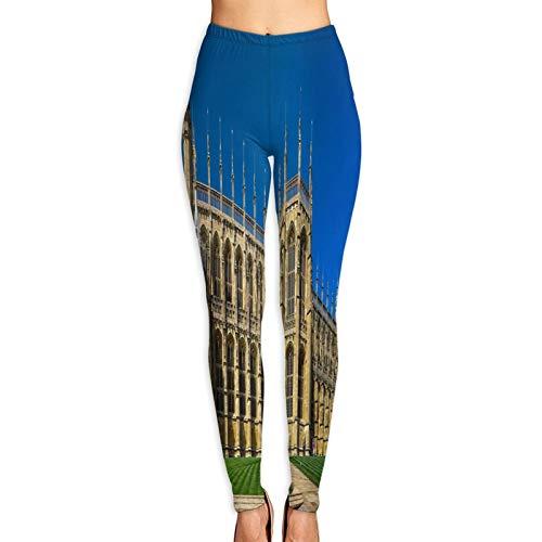 Benle Pantalones de Yoga para Mujer,Capilla de St Georges Castillo de Windsor Inglaterra,Pantalones de Entrenamiento de Cintura Alta Medias elásticas de Yoga Impresas M
