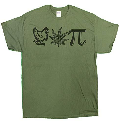 Gildan Men's Chicken Pot Pi Hilarious Nerdy Stoner T-Shirt