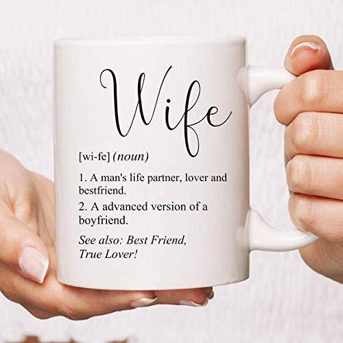 Taza de definición de esposa Regalo para esposa Regalo de aniversario Recién casado Regalo de San Valentín Regalo