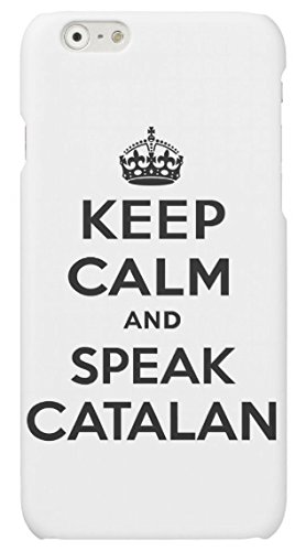 Funda carcasa Keep Calm Speak Catalan para Samsung Galaxy J1 2016 plástico rígido