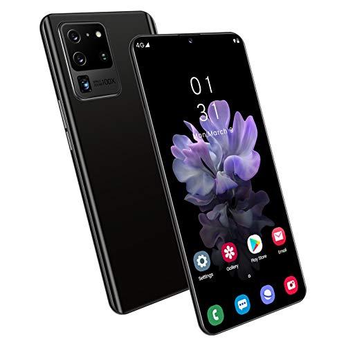 Smartphone Desbloqueado S20U Android Teléfono Móvil Desbloqueado 4GB RAM + 64GB / 128GB ROM, Cámaras Traseras Duales Y Tres Ranuras para Tarjetas, 16MP + 24MP, Desbloqueo de Identificación Facial