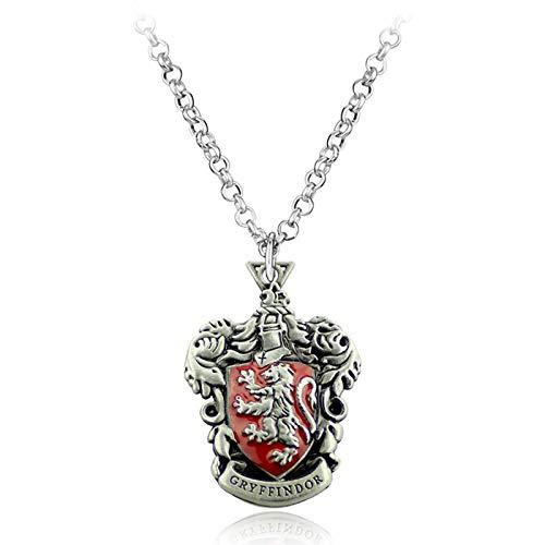 WYFLL Harry Potter Hogwarts - Collar de cuatro universidades Gryffindor College con logotipo de joyería