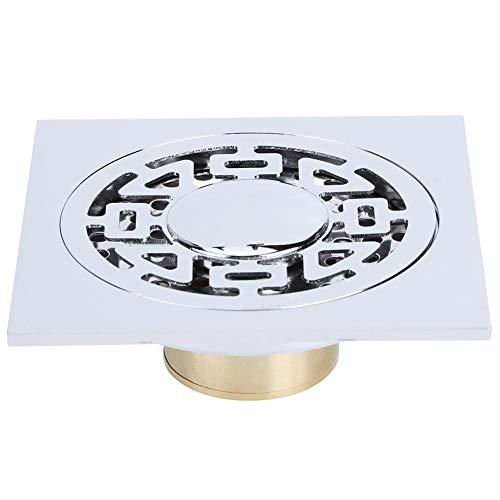 Fdit Drenaje de Piso de Acero Inoxidable para baño Cocina Lavado de Cabello Colador de Ducha Cuadrado Desagüe Cubierta extraíble Rejilla