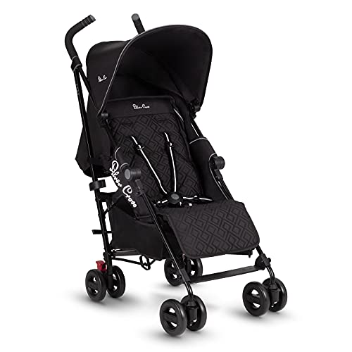 Silver Cross Zest Stroller, Compact and Lightweight Fully Reclining Baby To Toddler Pushchair – Black (New 2021)