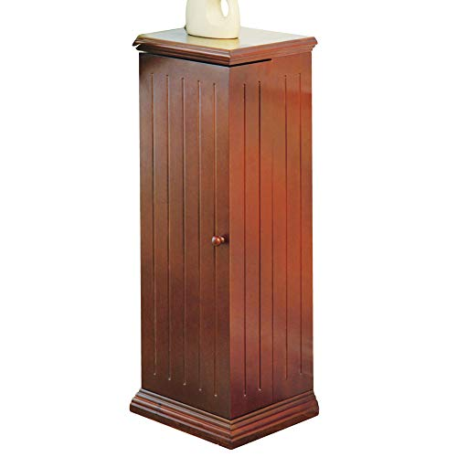 Collections Etc Swing Away Small Wood Vertical Media Cabinet CD & DVD Storage (325 CDs or 215 DVDs)