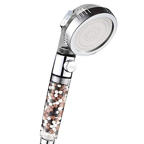 Ionic douchekop Handheld, Handheld High Pressure Water Saving 3 modes verstelbare Filter douchekop for Hard Water lage waterdruk WKY