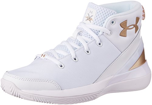 Under Armour Jungen Basket Grade School X Level Ninja, Jungen, 1296005, Bianco, 35.5 EU