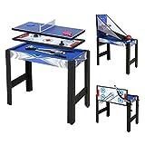homelikesport Table Multi Jeux 5 en 1 Table de Jeux, pour Hockey, Billard, Basket, Tennis de Table, Arc, 91.5 * 46 * 73cm