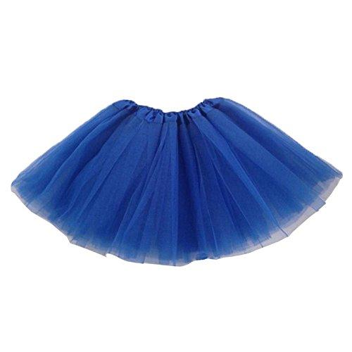 TOOGOO(R) Robe de ballet Jupe de Tutu moderne pour les filles - Bleu fonce
