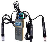 HANMIAO Professionale 5 in 1 Misuratore di qualità dell'Acqua Disciolto Ossigeno Tester PH Metro Conduttività TDS Salinità Temperatura Metri, DO Metri