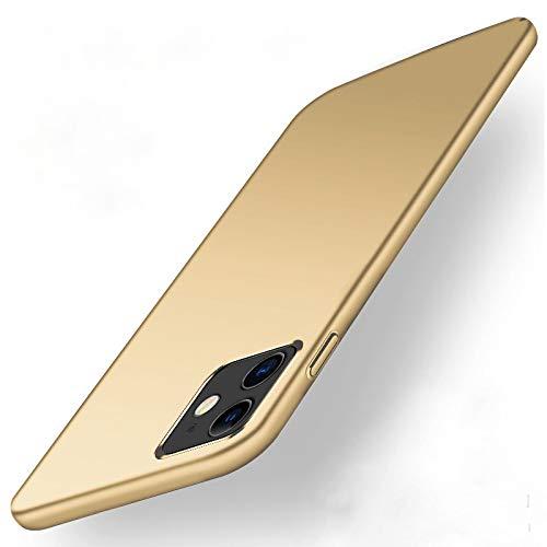 Rokmym Carcasa ultrafina para iPhone 12 Pro Max, con acabado mate y resistente a los arañazos, carcasa rígida de policarbonato antigolpes, carcasa rígida para iPhone 12 Pro Max, color dorado